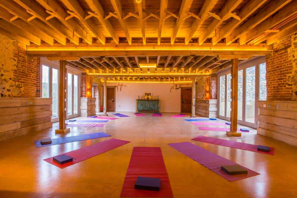 yoga studio with mats norfolk yoga retreat