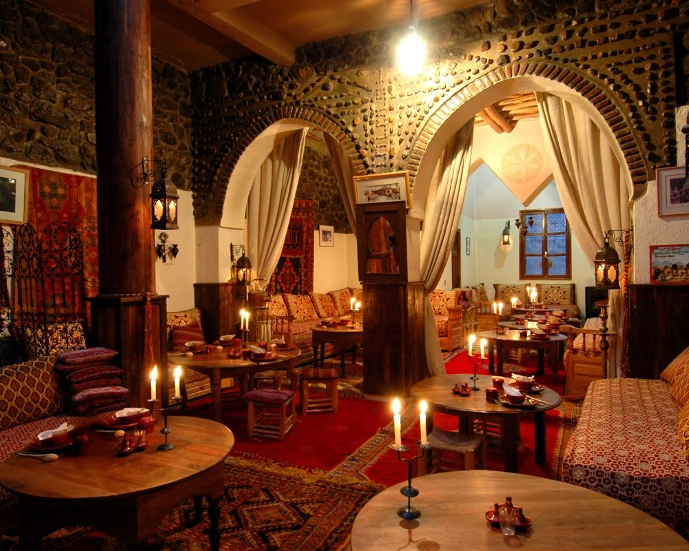 dining room kasbah hiking yoga holiday atlas mountains morocco