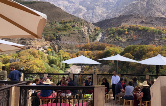 view of lunch and atlas mountains hiking yoga holiday atlas mountains