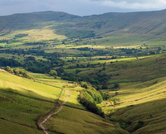 peak district landscape view