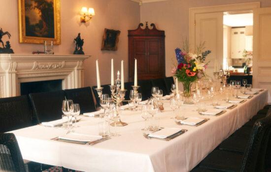 dining table autumn yoga retreat brecon beacons